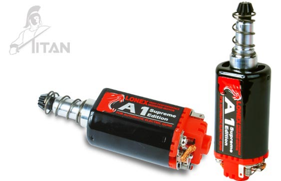 Lonex makes a series of motors for torque, speed, and combinations there-of.